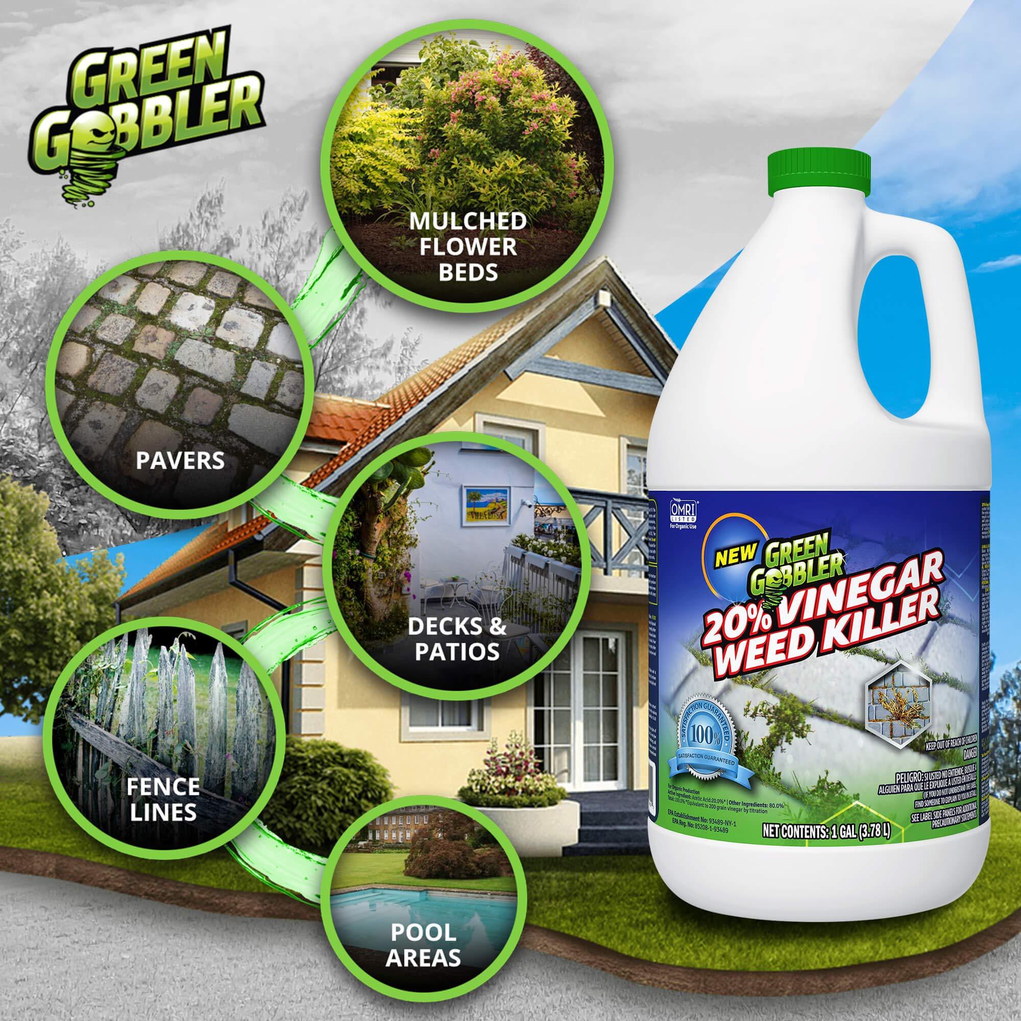 Green Gobbler 20% Horticultural Vinegar Weed Killer   Herbicide   Natural Weed Killer   Organic Weed Killer (5 Gallon Pail) by Green Gobbler (Image #4)