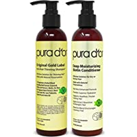 PURA D'OR Biotin Original Gold Label Anti-Thinning (2 x 8oz) Shampoo & Conditioner Set, Clinically Tested Effective…