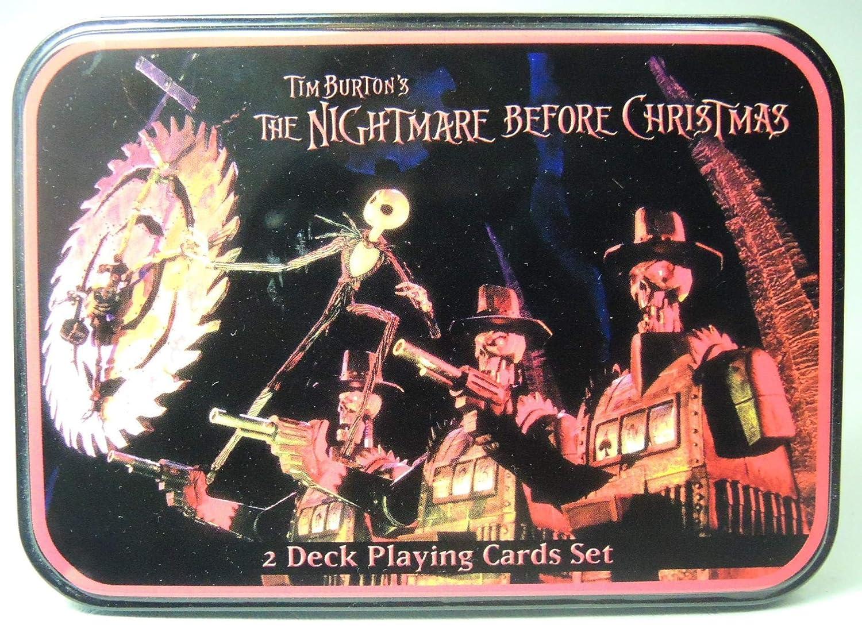 Amazon.com: Neca Nightmare Before Christmas Playing Card Set in Tin ...