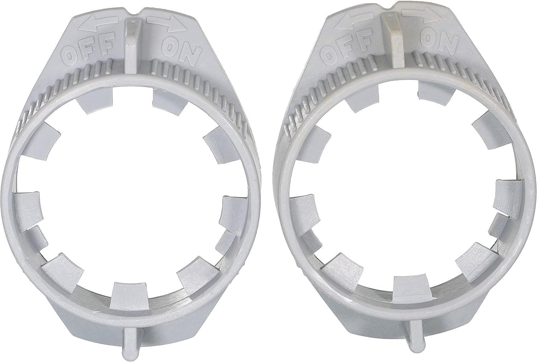 APDTY 141287 Headlight Bulb Plastic Retainer Ring 2-Pack Fits 1997-2004 Dodge Dakota 1998-2003 Durango 1994-2002 Dodge Ram 1500 2500 3500 Pickup (Replaces 55077046)