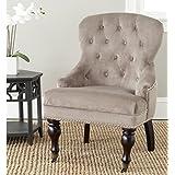 Safavieh Mercer Collection Falcon Arm Chair, Mushroom Taupe