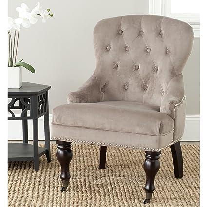 amazon com safavieh mercer collection falcon arm chair mushroom rh amazon com