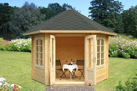 Sorbus S4a - Caseta de jardín con suelo (madera: 34 mm, superficie útil: 7,60 m2): Amazon.es: Bricolaje y herramientas