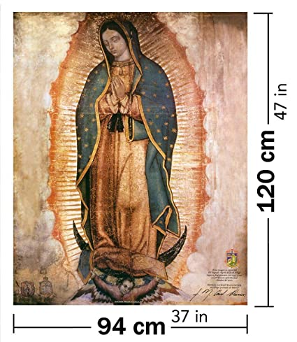 Amazon Com Virgen De Guadalupe Lienzo Real Gigante Our Lady Of