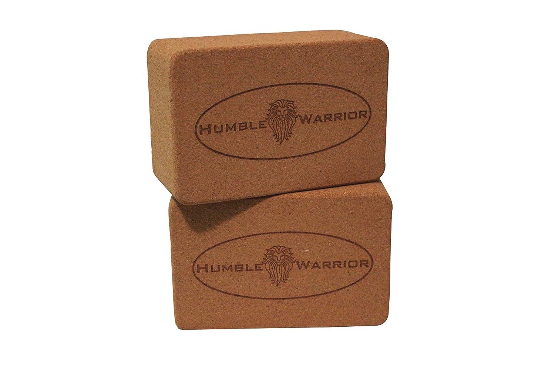 Humble Warrior最高品質、プレミアム、High End、コルクヨガブロック1または2pk HUMBLE WARRIOR Cork Yoga Block 2 Pack  B07DPVS51N