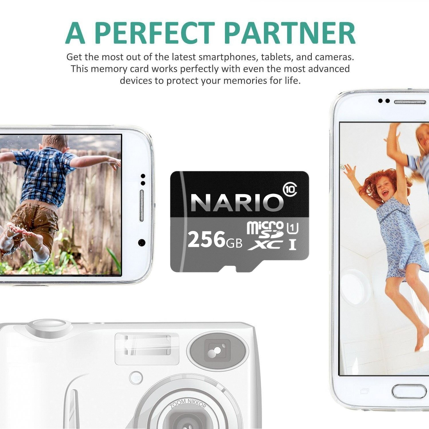 NARIO 256GB Micro SD SDXC Card High Speed Memory Card With SD Card Adapter by NARIO (Image #3)