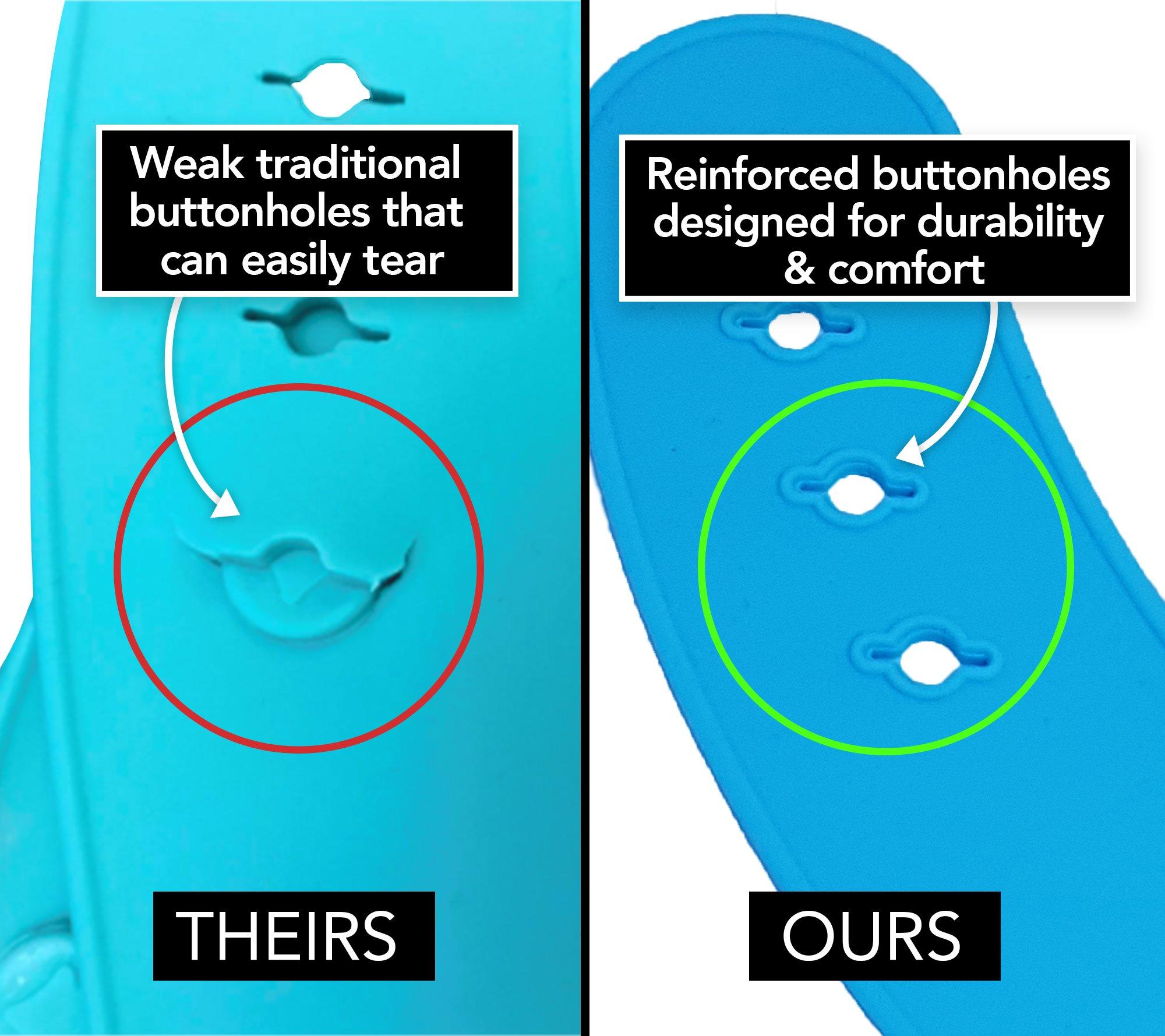 Waterproof Silicone Bibs - 2 PACK (Blue & Green) - PBA Free - Dishwasher Safe - Adjustable Collar (Blue & Green)