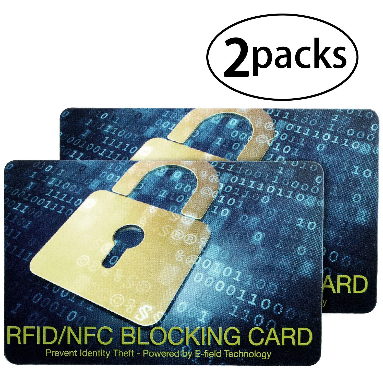 Credit Card Protector-RFID Blocking Shield Guard Cards for Id's, Passports and Chip Bank Cards-Theft Blocking Wallet Protector[2 Packs]