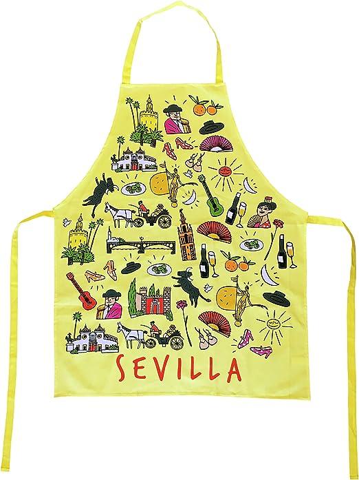 Delantal Amarillo de Cocina con Tela de Algodón Souvenir con ...