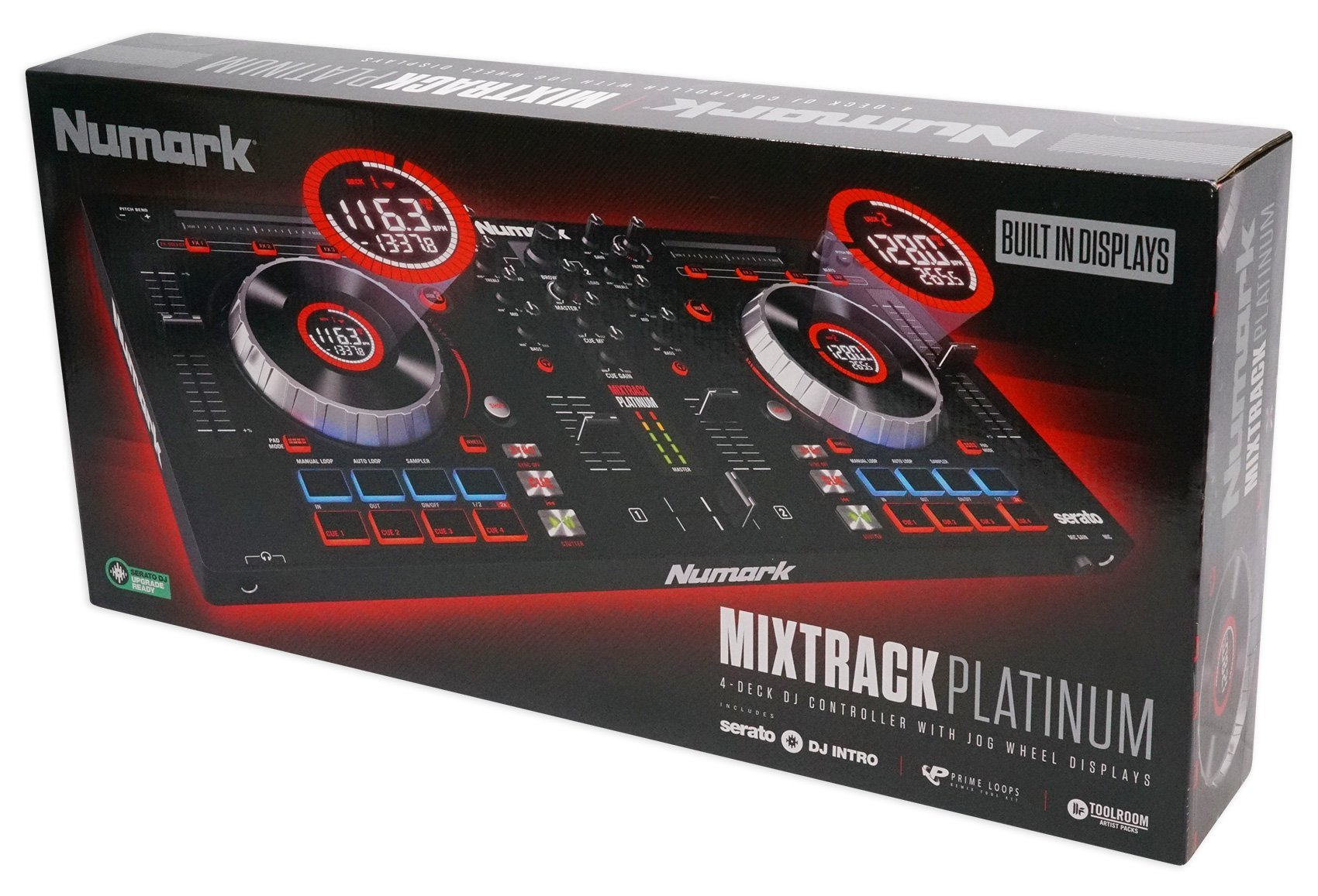 Numark Mixtrack Platinum | 4-channel DJ Controller With 4-deck Layering and Hi-Res Display for Serato DJ by Numark (Image #9)
