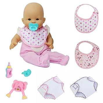 ZITA ELEMENT 9 Piezas Accesorios Bebé Alive Muñeca Ropa y Accesorios Ropa Interior Bibs Biberón y