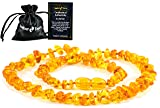 Baltic Amber Teething Necklace for Babies - Anti