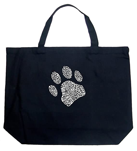 Amazon.com: Large bolsa Bag – Perro Paw, Negro: Clothing