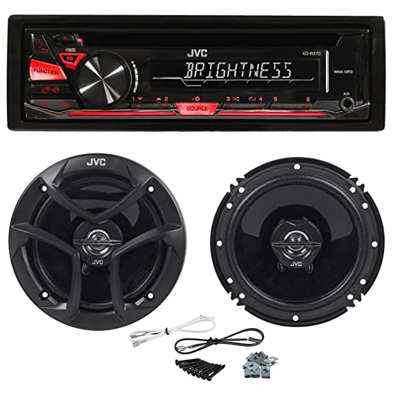 Wireless Car Speakers >> Package Jvc Kd R370 In Dash Car Stereo Cd Mp3 Player Receiver W Dual Aux Inputs Pair Of Jvc Cs J620 Wireless 6 5 2 Way Coaxial Car Speakers