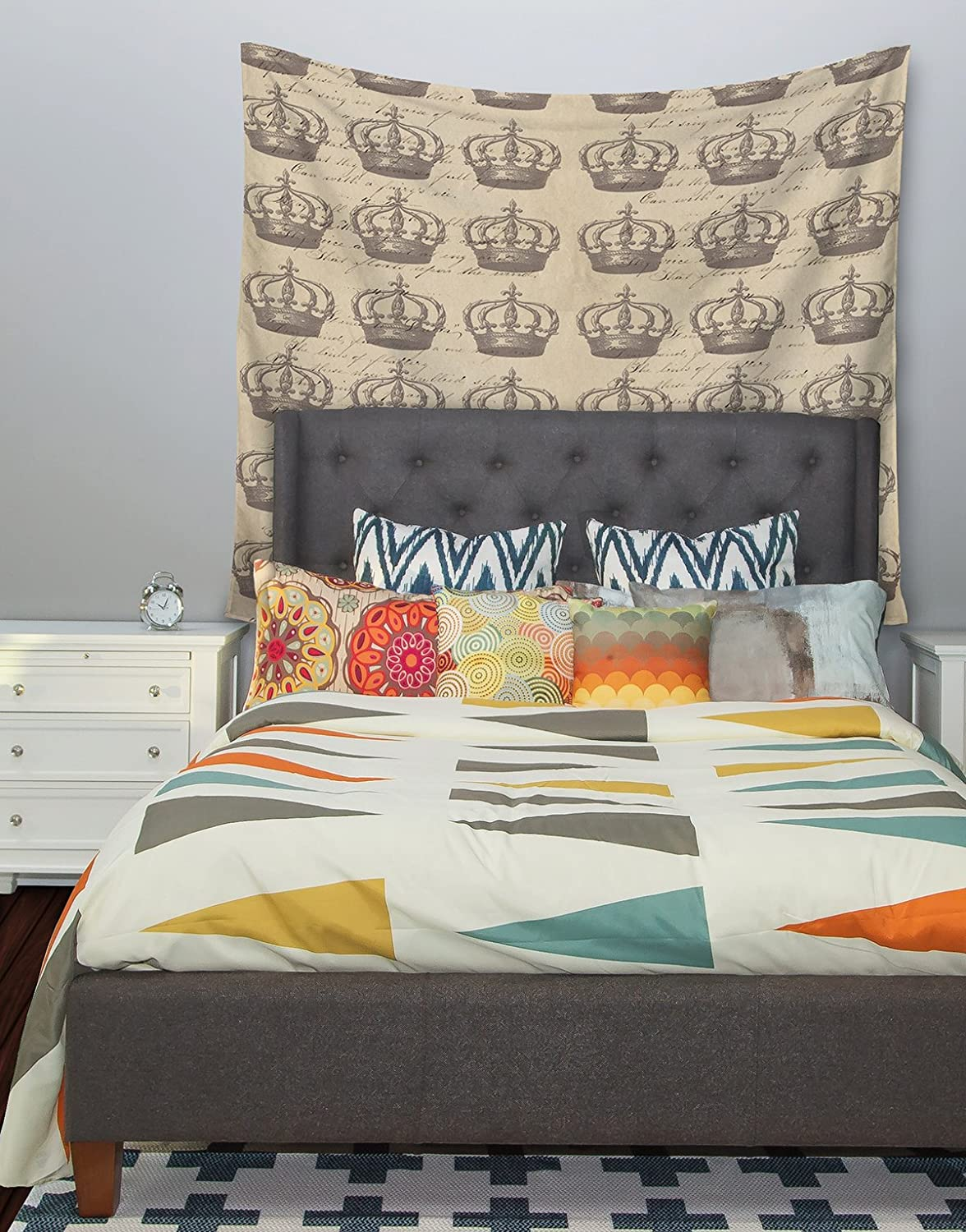 Kess InHouse Suzanne Carter Crowns Brown Tan Wall Tapestry 68 X 80