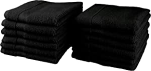COTTON CRAFT Hotel Luxury Spa Set of 12 Washcloths, Ringspun Cotton 700GSM, 13 inch x 13 inch,