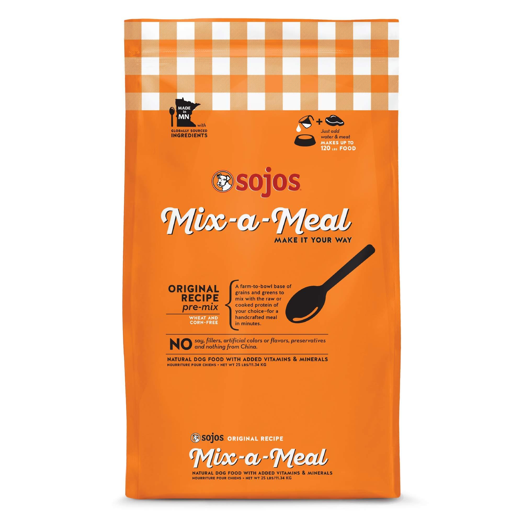 Sojos Mix-A-Meal Original Pre-Mix Dog Food, 25 Lb by SOJOS