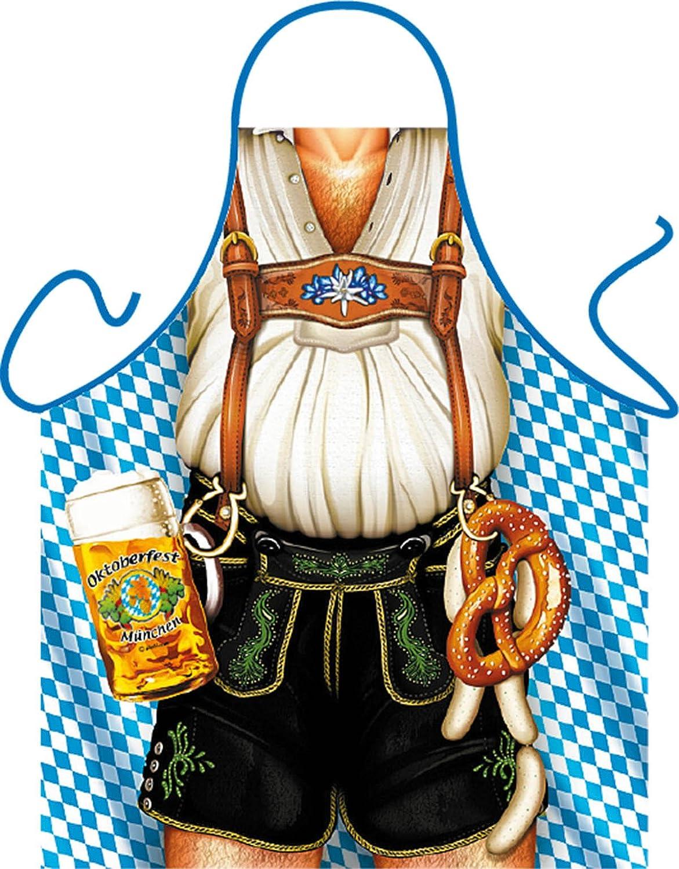 Urkunde Scherzartikel Mann mit Lederhosen und Bier Lustige Schürze Bayer