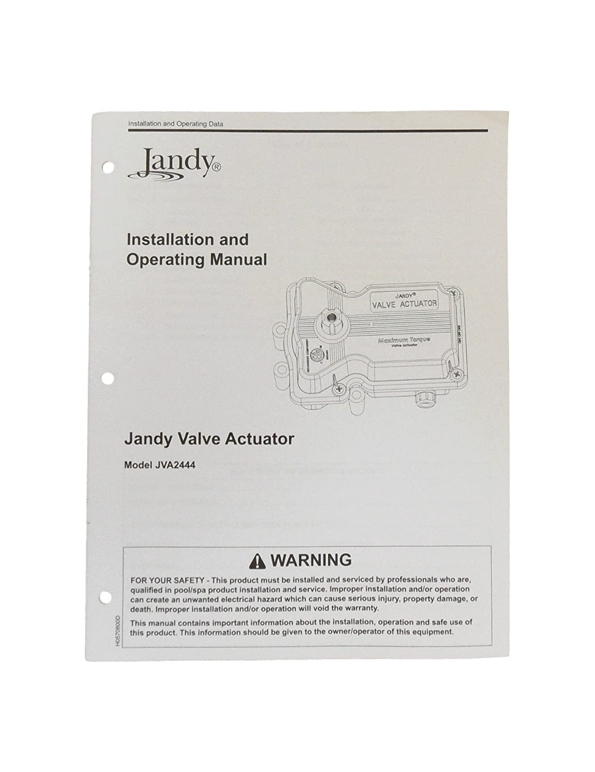 Amazon.com : Jandy JVA244 Valve Actuator Installation Owner's Manual  JVA-2444 : Garden & Outdoor