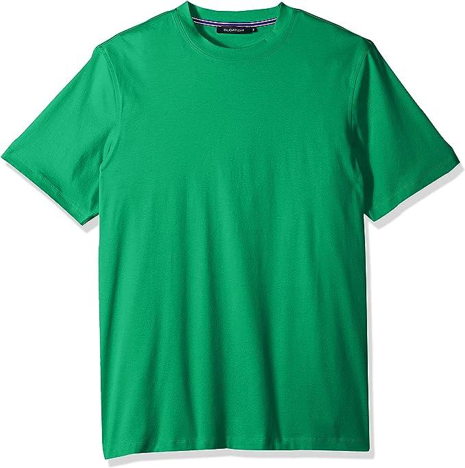Bugatchi Mens Modern Trim Fit Short Sleeve Solid Crew Neck Shirt