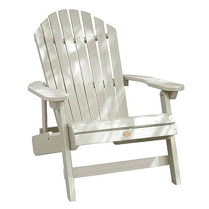 Highwood King Hamilton Folding And Reclining Adirondack Chair, Whitewash