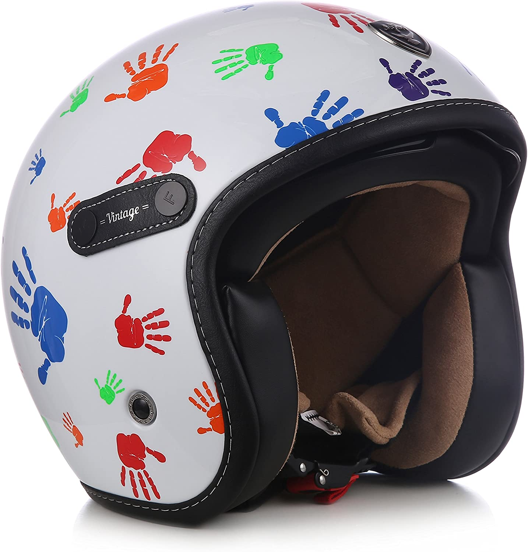 "61-62cm SOXON/® SP-888 /""Sir Night/"" /· Jet-Helm /· Motorrad-Helm Roller-Helm Scooter-Helm Retro /· ECE Sonnenvisier Schnellverschluss SlimShell Tasche XL"
