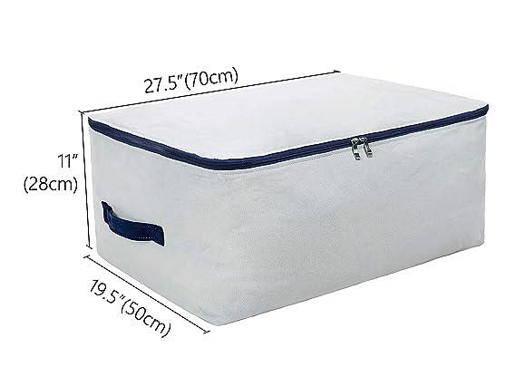 100% algodón natural, tamaño grande bolsa de almacenamiento suave para ropa de cama, edredones, almohadas, mantas, almohadas, todos los artículos ...
