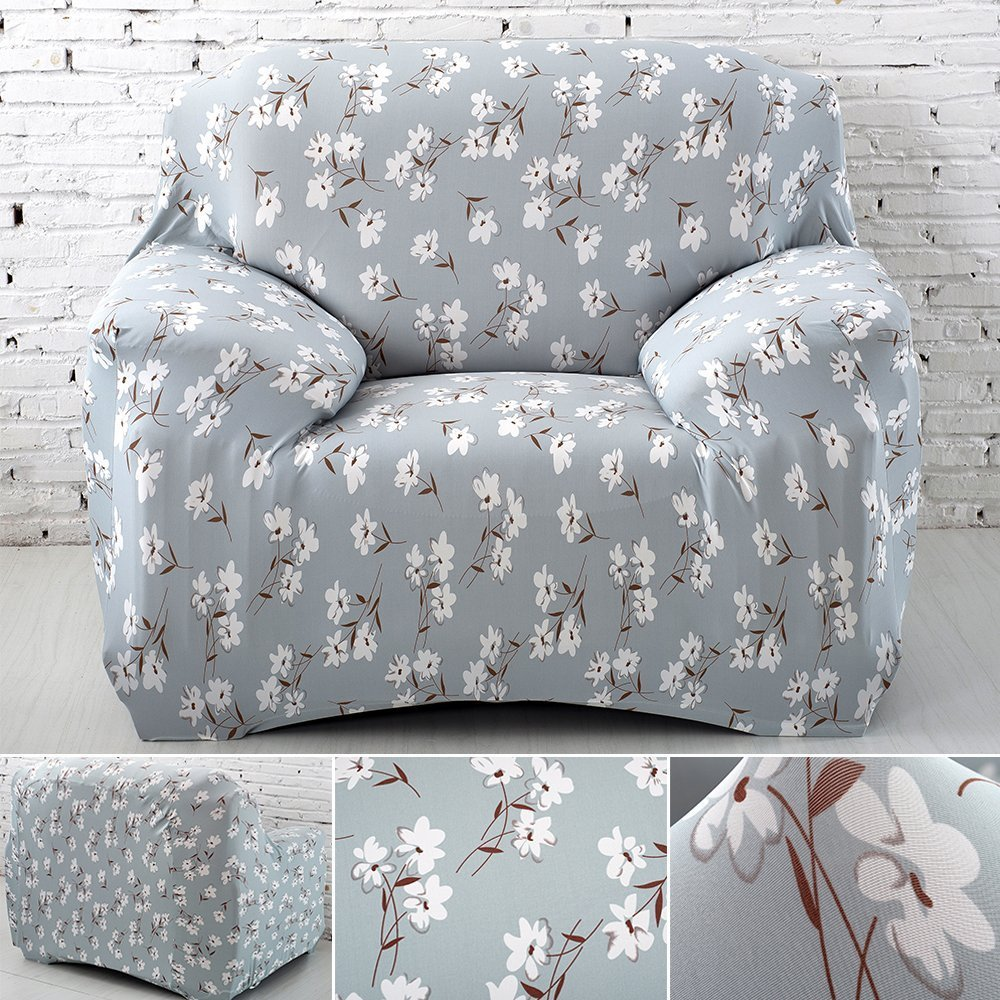 Single Seater Sofa Cover Arm Chair Slipcover Elastic Fabric Couch Cover Settee Protector littleduckling BHBAZUKLIK2876