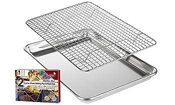 KITCHENATICS Roasting & Baking Sheet with Cooling Rack