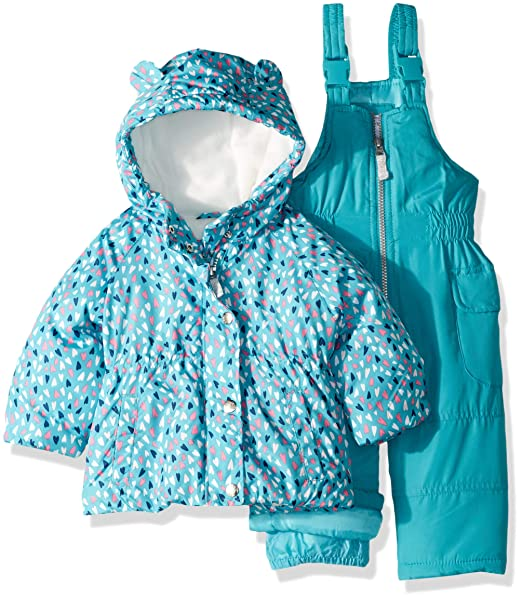 4465e189bc6b Carter s Baby Girls 2-Piece Heavyweight Printed Snowsuit with Ears ...