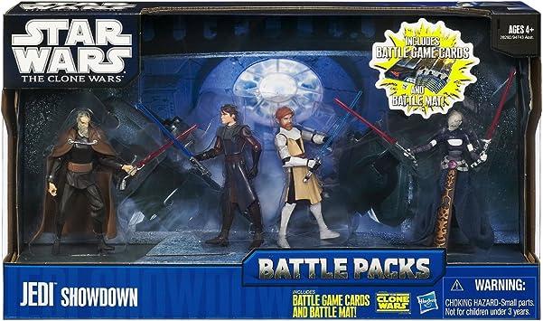 Hasbro Star Wars Battle Pack Jedi Showdown - Surtido de figuras de La Guerra de las Galaxias (Dooku, Anakin, Obi-Wan y Asajj Ventress): Amazon.es: Juguetes y juegos