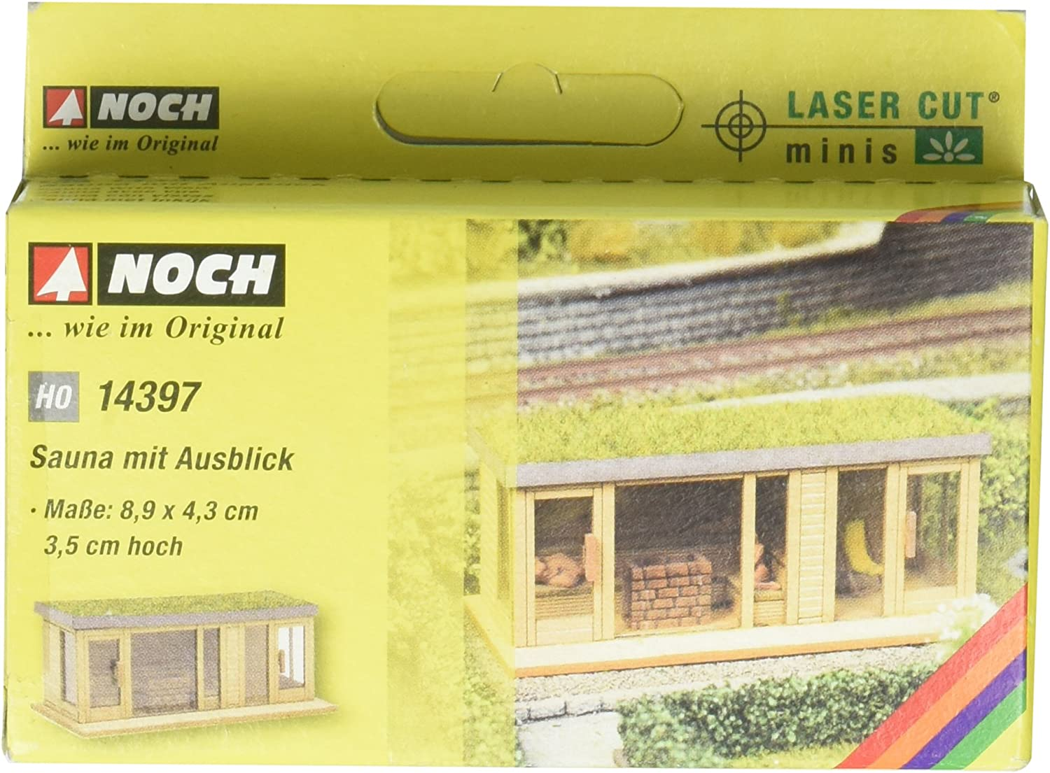 Noch 14397 Sauna W//View H0 Scale  Model Kit