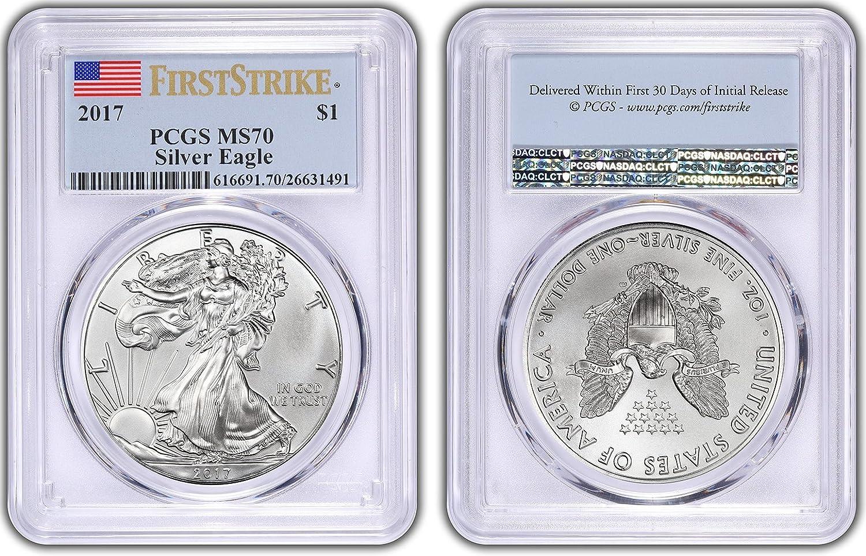2018 American Silver Eagle $1 MS70 PCGS