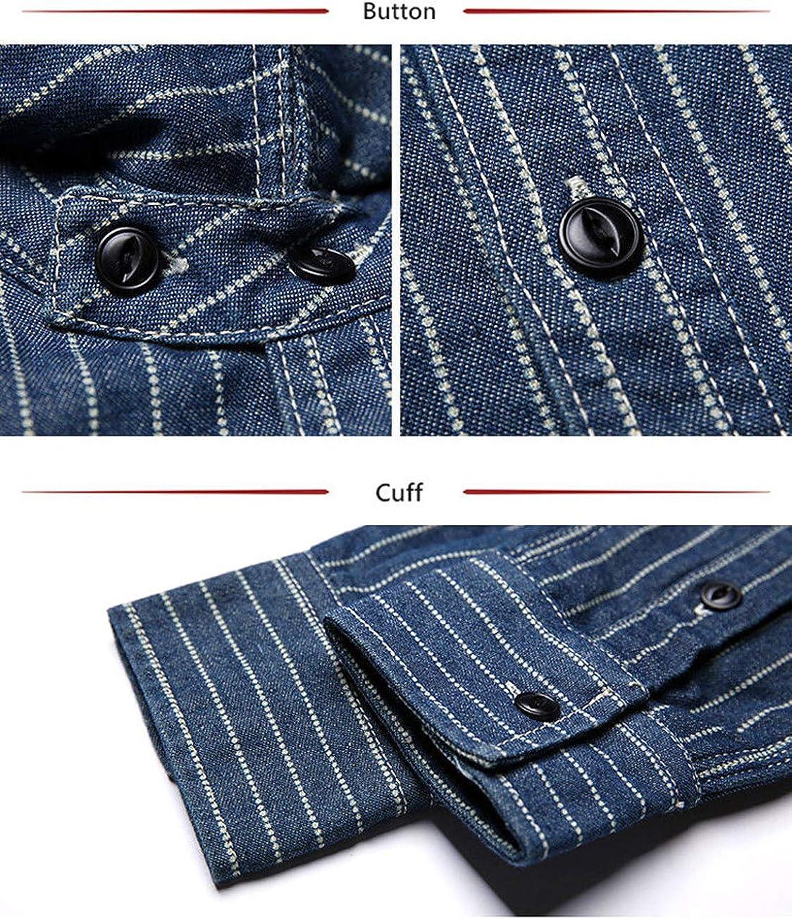 NON STOCK Wabash Striped Shirts Men/'s Vent Hole Long Sleeve Workshirts