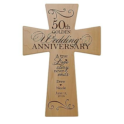 amazon com personalized 50th wedding anniversary maple wood wall