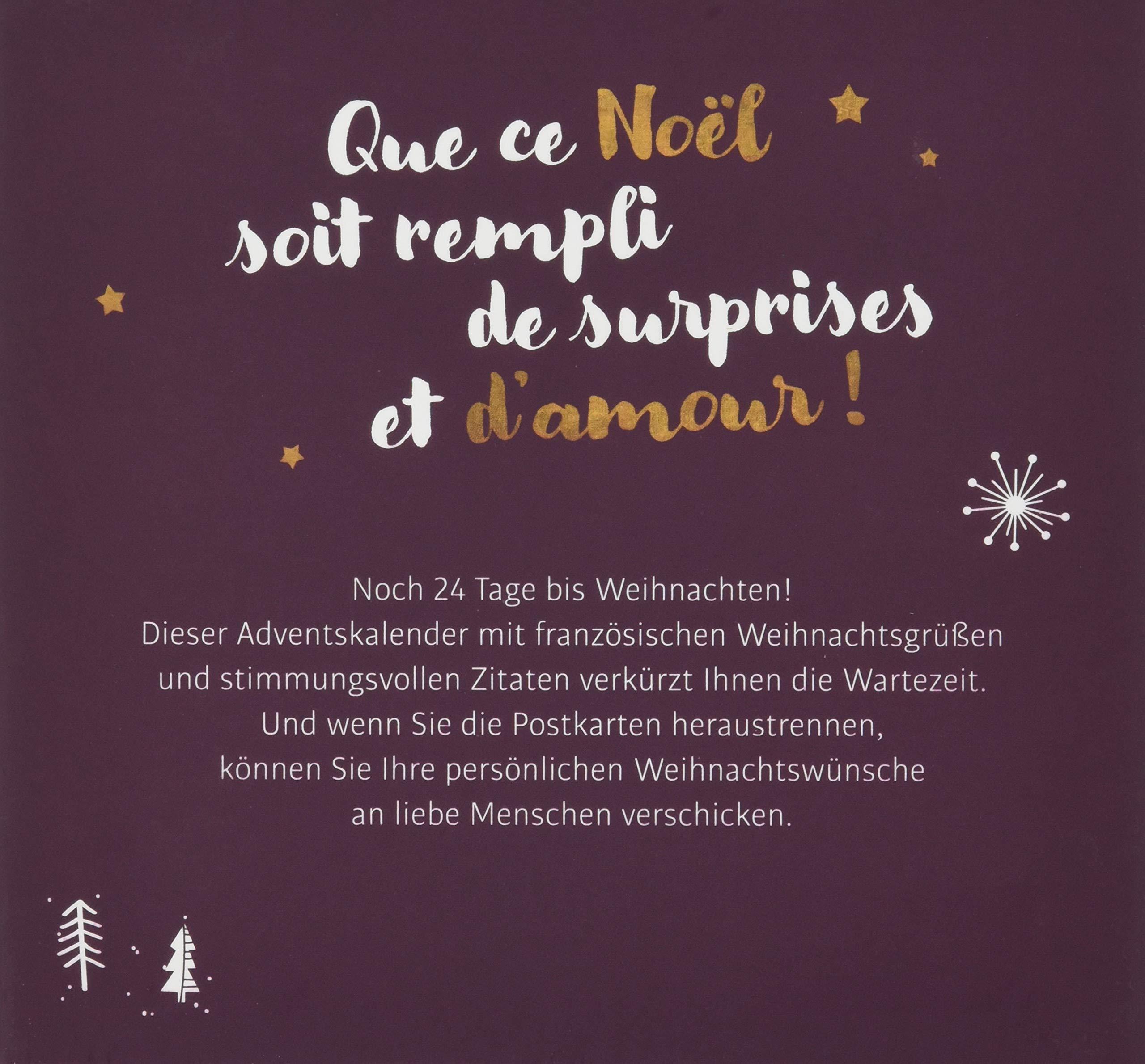 Weihnachtsgrüße In Französisch.Joyeux Noël Adventskalender Mit Postkarten 24 Weihnachtsgrüße