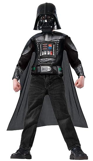 Kit disfraz de Darth Vader Star Wars musculoso para niño: Amazon ...