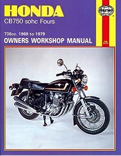 amazon com clymer honda in line fours cb750 sohc manual m341
