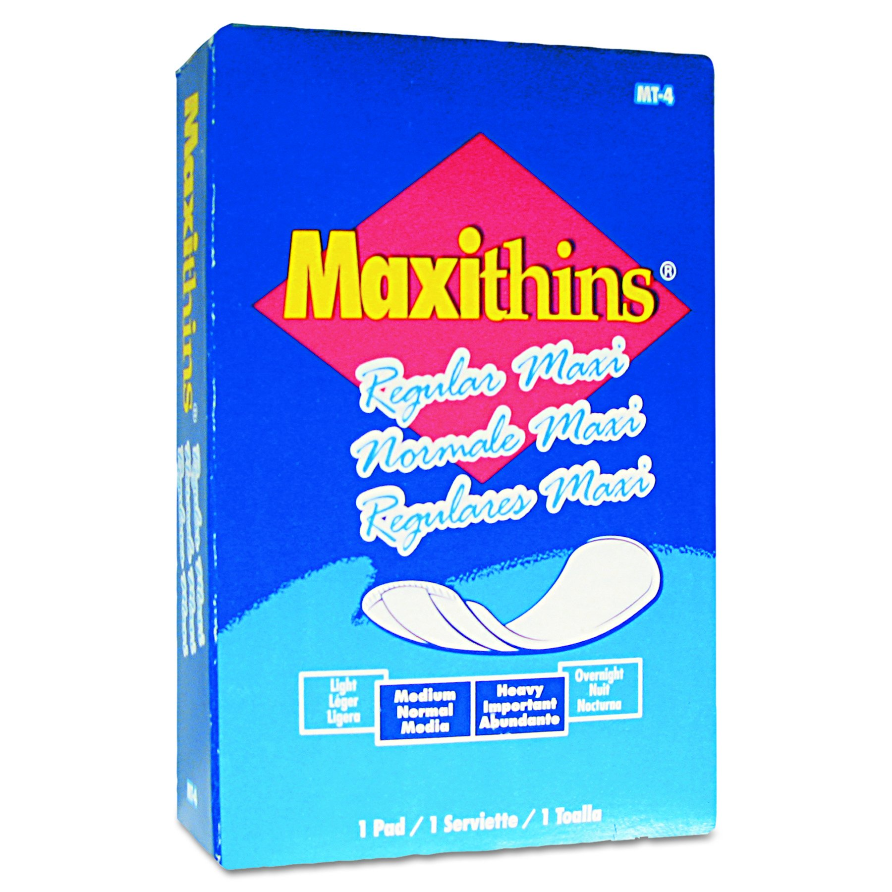 HOSPECO MT4FS Maxithins Vended Sanitary Napkins (Case of 100)