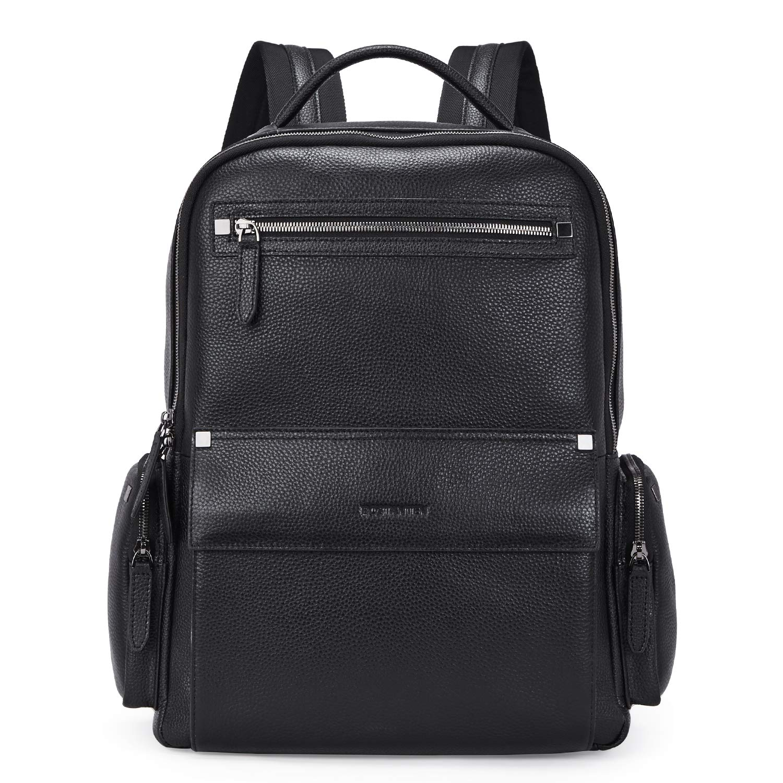 BOSTANTEN Men Leather Backpack 15.6 Laptop Backpack Travel Business Office Bag Large Capacity School Bookbag
