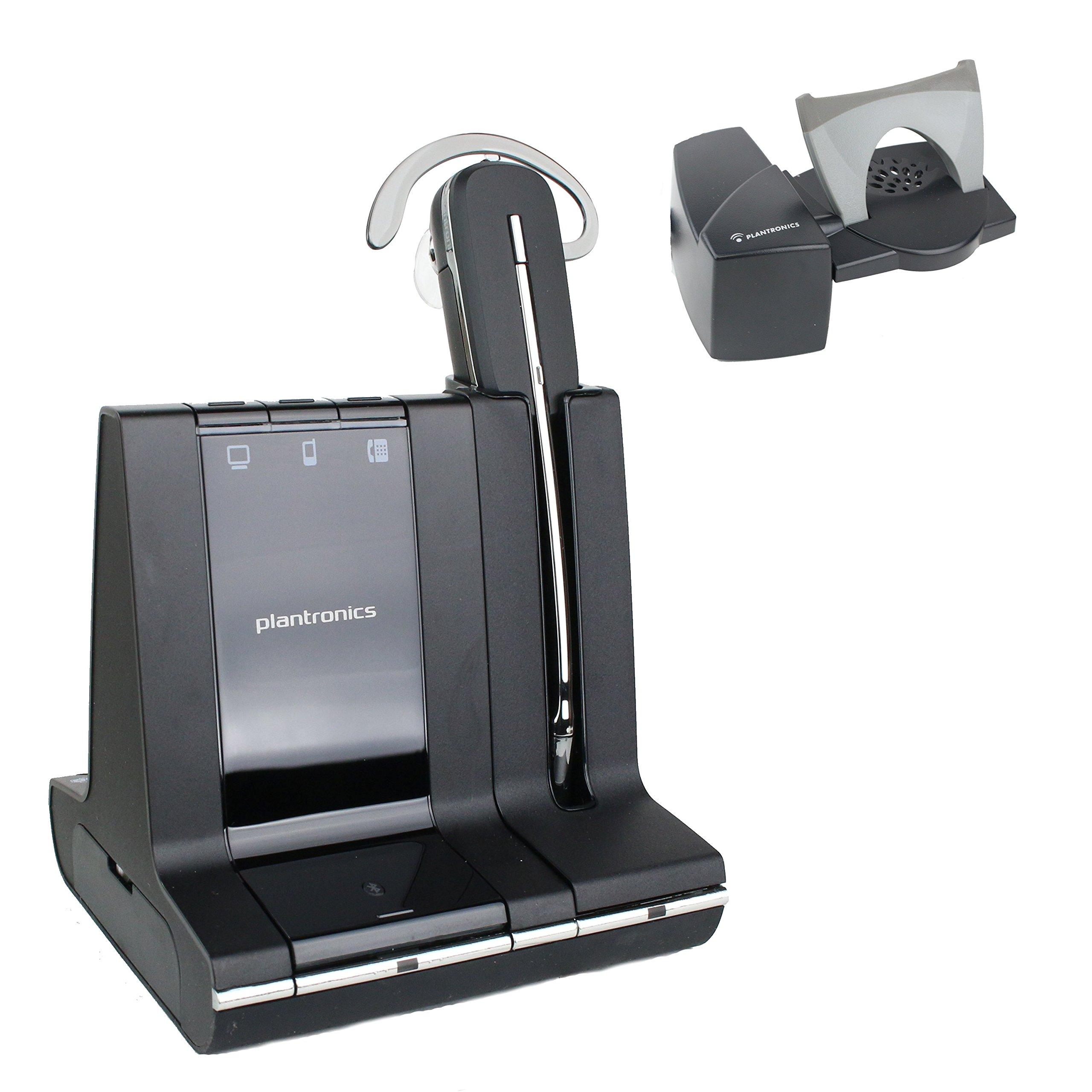 Plantronics Savi W740 Wireless Office Headset System With Lifter (Certified Refurbished)