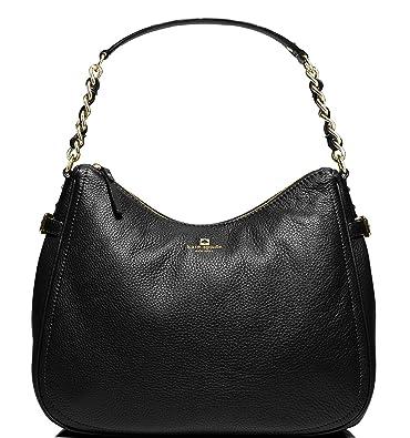 b0f5862a8 Amazon.com: Kate Spade Pine Street Finley Leather Hobo Bag, Black: Shoes