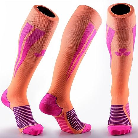 Calcetines de compresión Samson Hosiery ®, para deportes, para fútbol, entrenamiento, running