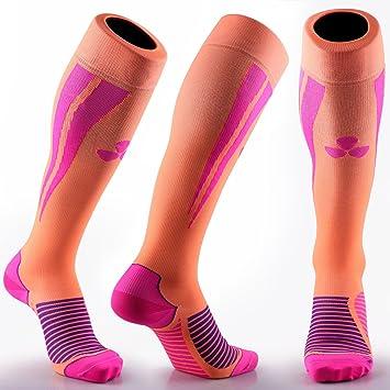 Calcetines de compresión Samson Hosiery ®, para deportes, para fútbol, entrenamiento, running, deporte, gimnasio, hombres, mujeres, unisex: Amazon.es: ...