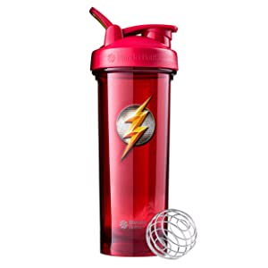 BlenderBottle Justice League Superhero Pro Series 32-Ounce Shaker Bottle, Flash