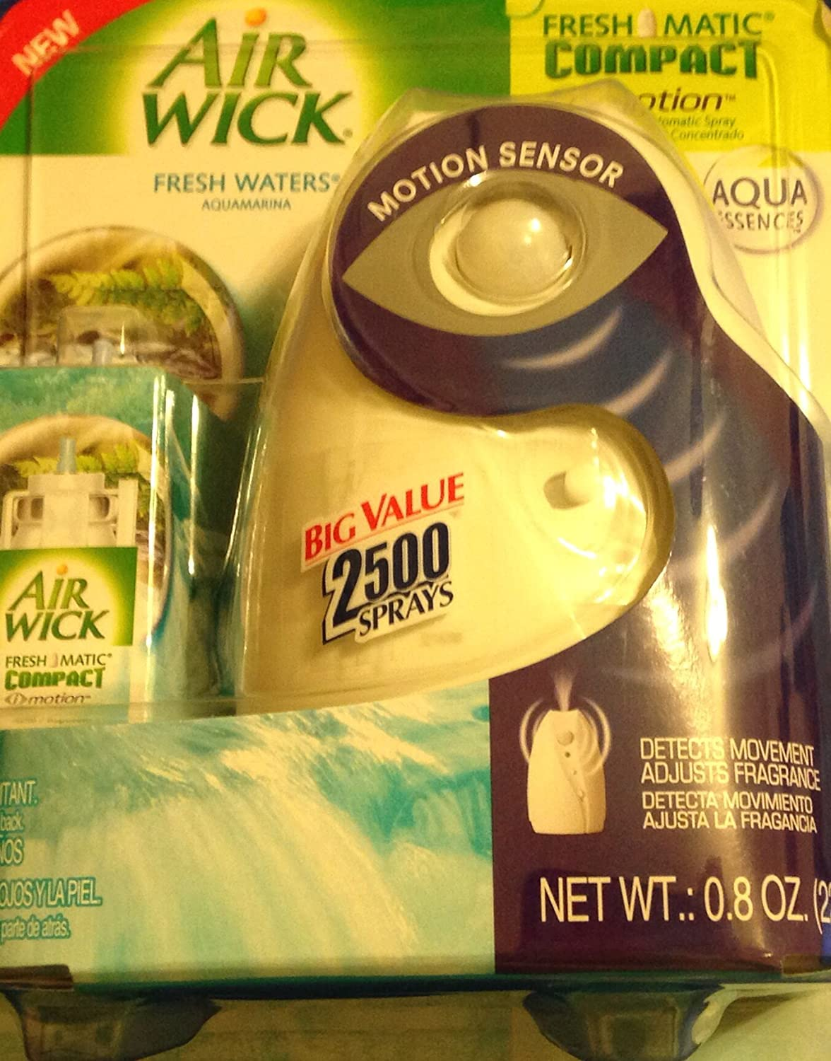 Amazon.com: Air Wick Freshmatic Compact I-Motion Fresh Waters Concentrated Automatic Spray: Health & Personal Care