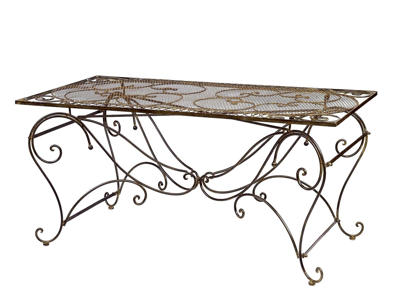 Tisch Gartentisch Esstisch Eisen Nostalgie antik Stil 160x80cm garden table iron