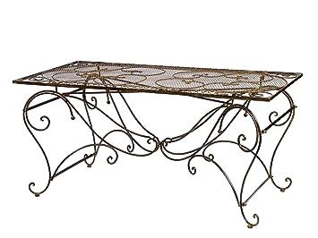 Amazon De Tisch Gartentisch Esstisch Eisen Nostalgie Antik Stil