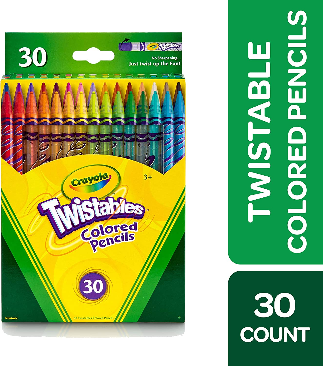 Crayola Twistables Colored Pencils, 30 Count, Assorted Colors, Gift: Toys & Games