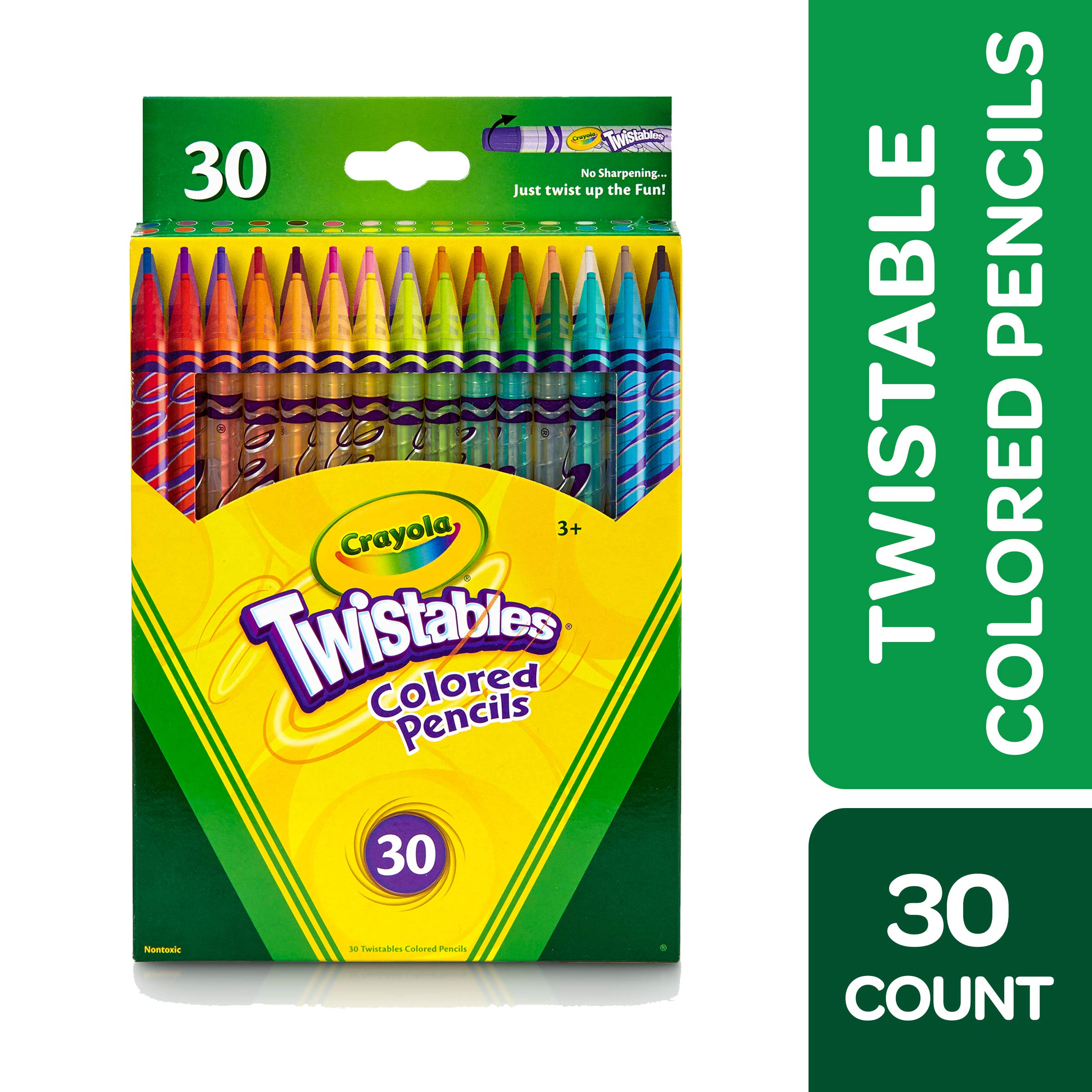 Crayola Twistable Colored Pencils Crayola Ultra-Clean Washable Broad Line Markers 40 Classic Colors 30 Count Includes 5 Color Flag Set